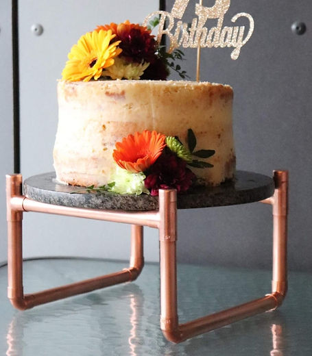Industrial copper pipe wedding cake stand