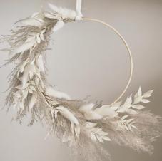 Grey & White Wreath
