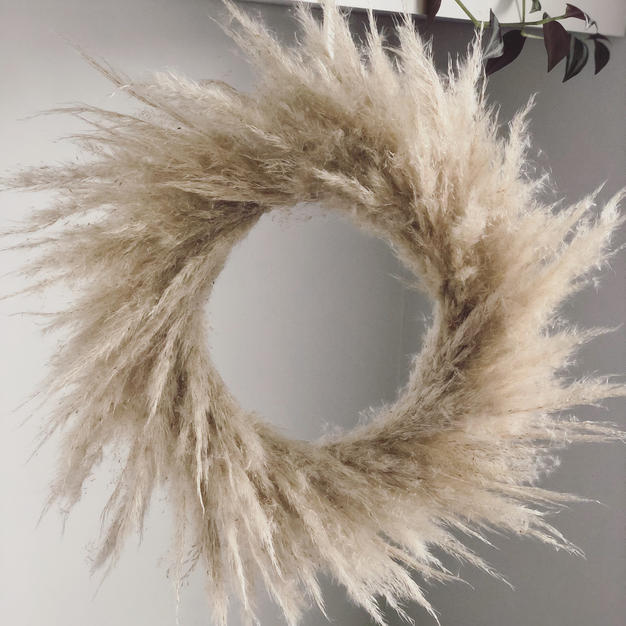 Fluffy Pampas Wreath