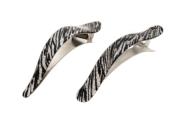 Ficcare Maximas and Ficcarissimo Zebra Glittery Frech Acetate