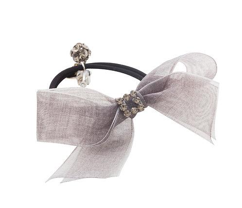 Mademoiselle Tulle Fabric Bow Ponyholder