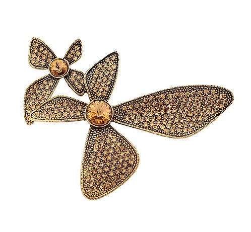 Trillium Flowers Swarovski Pins
