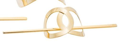 Infinity Stick Slide Barrettes (Gold Shiny)