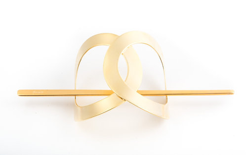 Infinity Stick Slide Barrettes (Gold Matte)