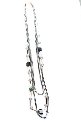Maira Long Multi-Chain Necklace