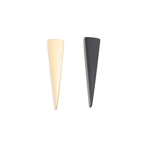 Amber Mini Cone Stud Earrings