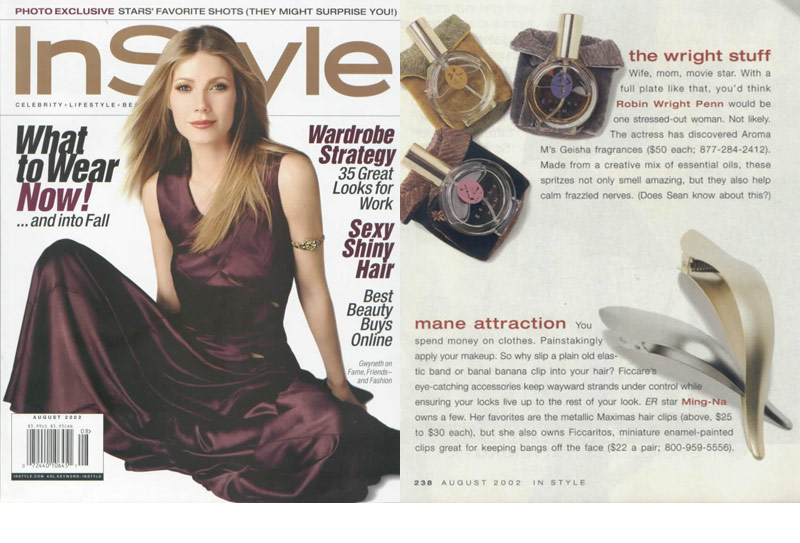 Ficcare in InStyle Magazine