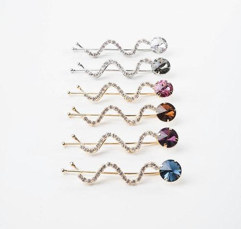 Glittery Swirly Pins