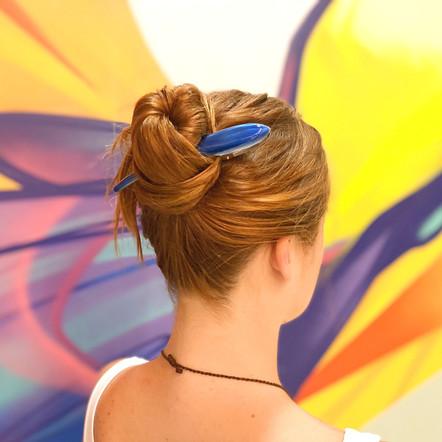 Super Clip - Large Royal Blue Jewel Tone
