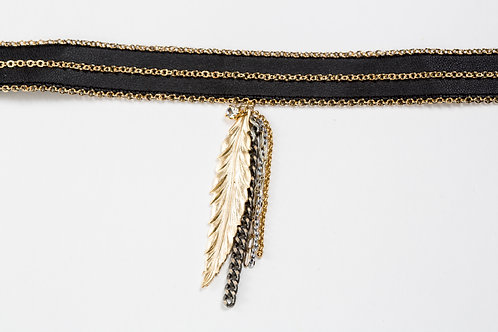 Amanda Gold Leaf Chocker
