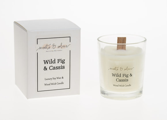 Votive Wood Wick Fig & Cassis