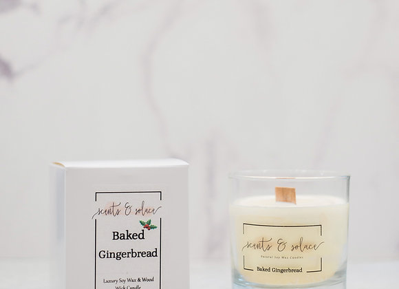 Large Wood Wick Baked Gingerbread