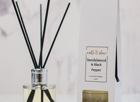 Luxury Reed Diffuser Sandalwood & Black Pepper