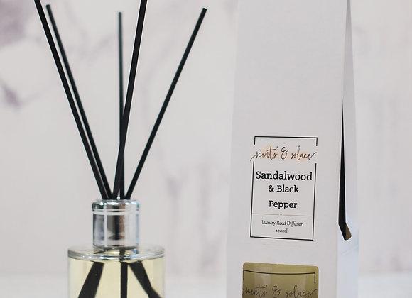 Luxury Reed Diffuser Sandalwood & Black Pepper
