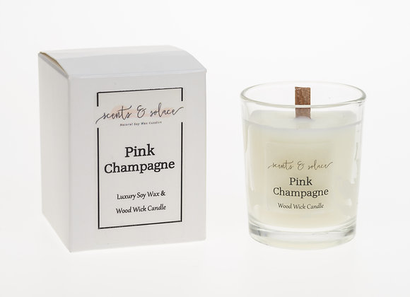 Votive Wood Wick Pink Champagne
