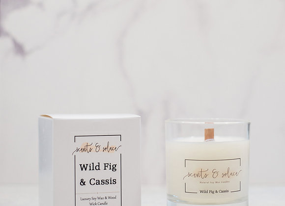 Large Wood Wick Fig & Cassis