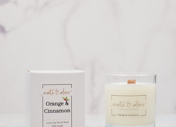 Large Wood Wick Orange & Cinnamon Candle