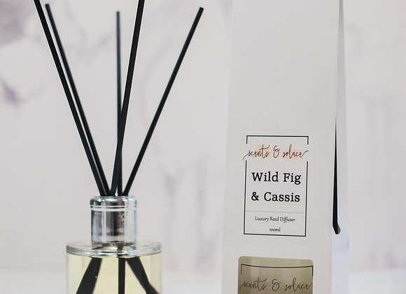 Luxury Reed Diffuser Wild Fig & Cassis