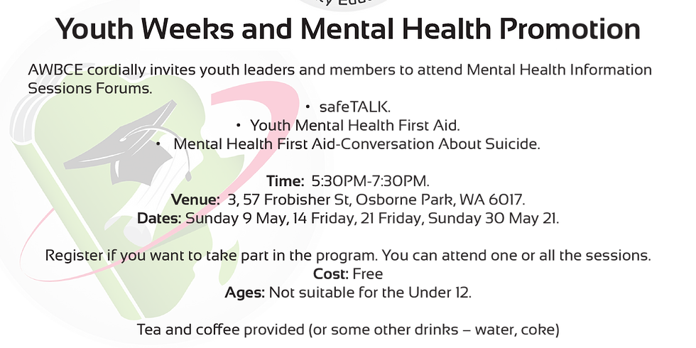 Youth Weeks and Mental Health Promotion