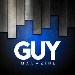GUY MAG -LOGO  3 -  METAL SLATS AND BLUE