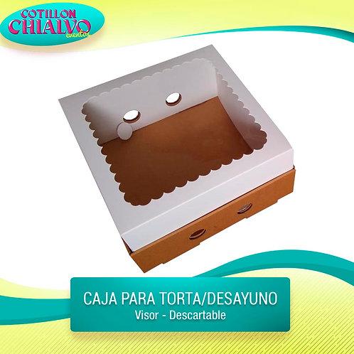 Caja para torta o desayuno