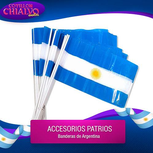Banderas Argentina 25u