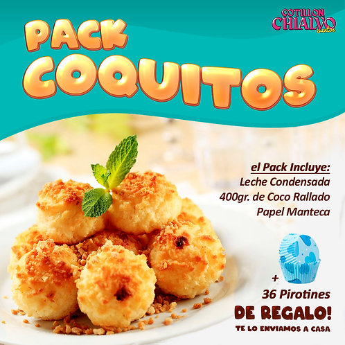 Pack coquitos caseros