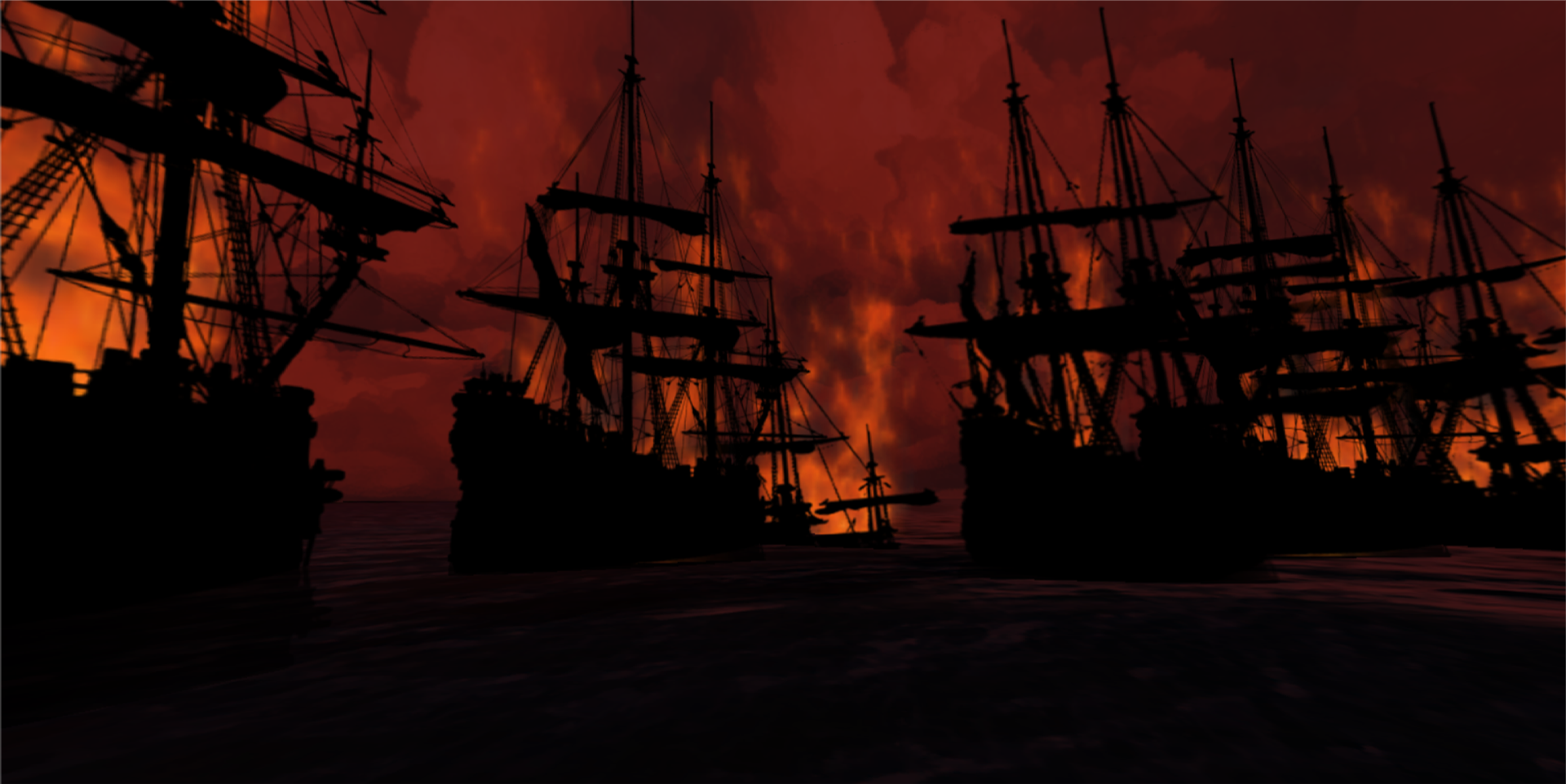 The Dutch fleet ablaze
