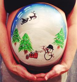 Snow Globe bump art