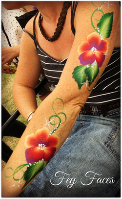 Body painting flowers