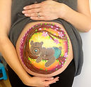 Baby bump painting by Fey Faces, Witney, Oxfordshire