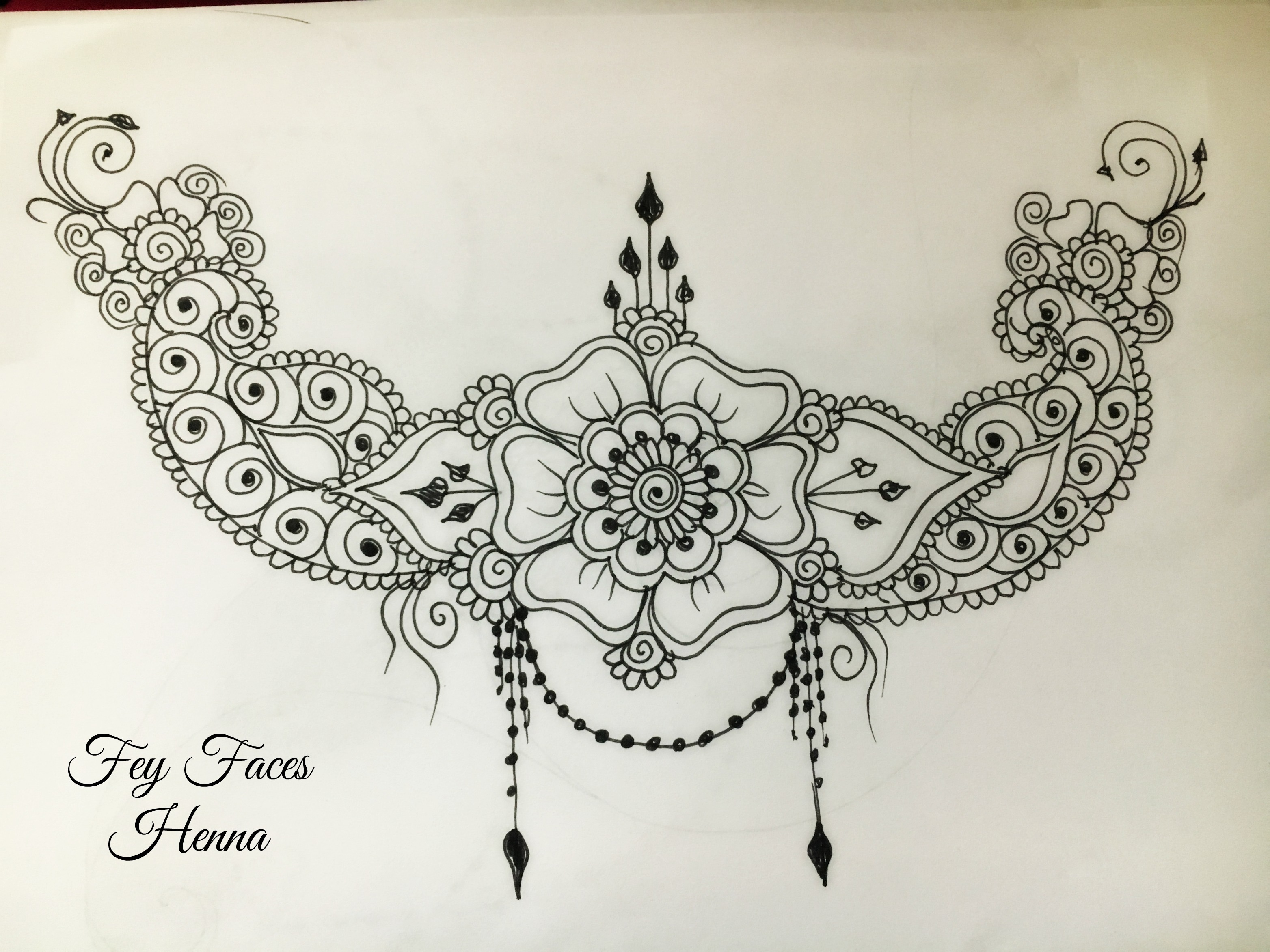 Henna design by Fey Faces Oxfordshir