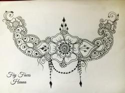 Henna design by Fey Faces Oxfordshir