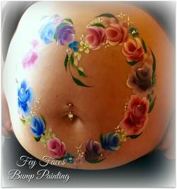 Flower heart bump art