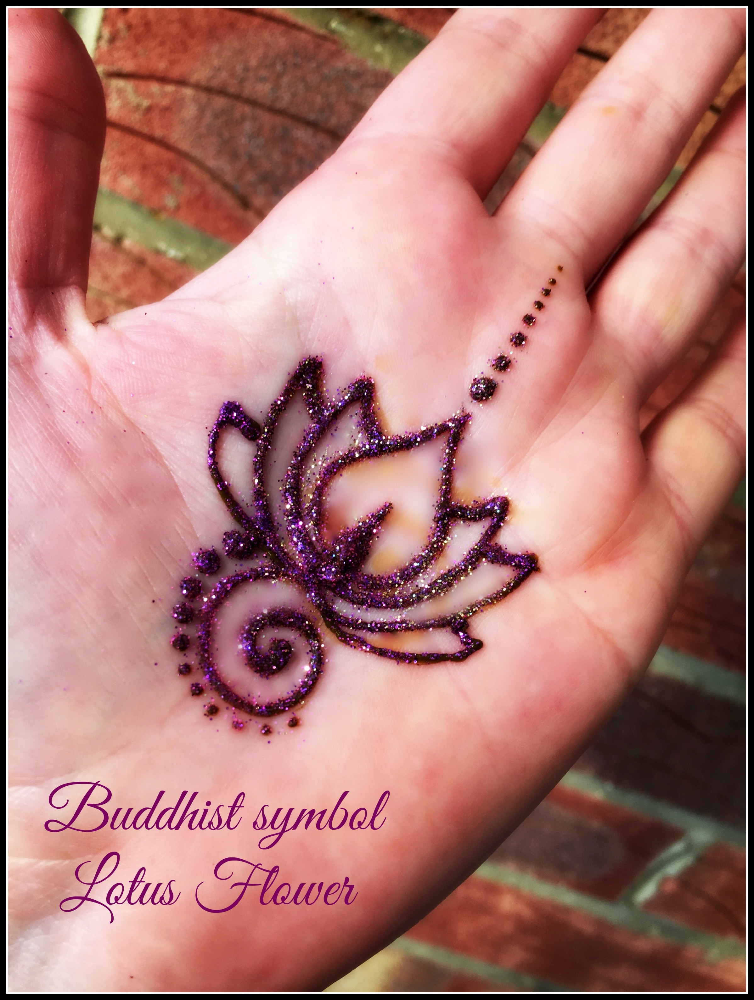 Lotus flower henna by Fey Faces