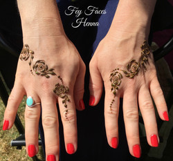 Henna rose design