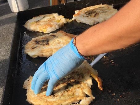 Cranberry liqueur, sizzling scallion pancakes and American Bow Knife at the market this week!