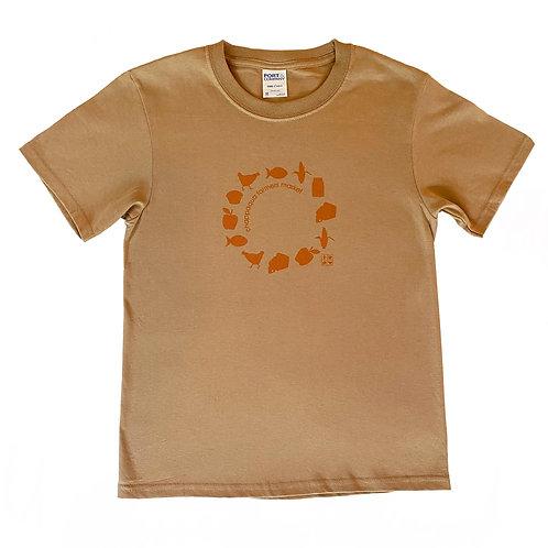 Children's t-shirts in sand