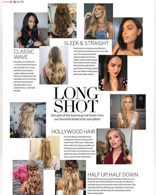 Wavey Hair Feature in Wedding Ideas Magazine