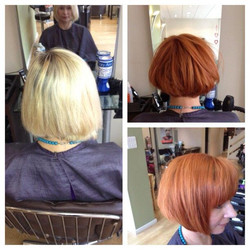 Colour Change. Blonde to Copper