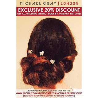 Exclusive 20% Discount off all wedding styling. Book by January 31st 2015