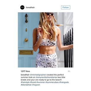 Loreal Instagram Regram