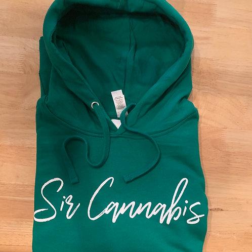 Sir Cannabis Font Hoodies