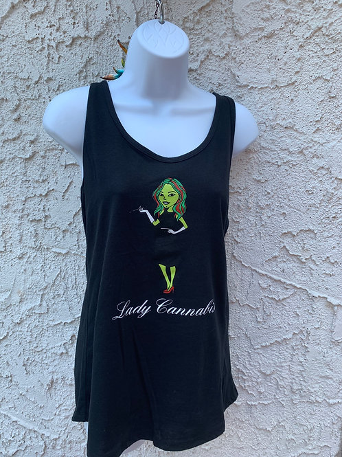 Lady Cannabis Tank tops