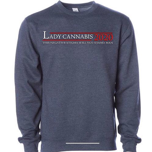 Lady Cannabis 2020 CrewNeck Sweaters