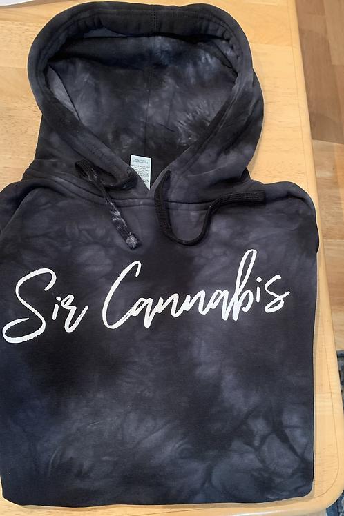Sir Cannabis Black Tye Dye Hoodies