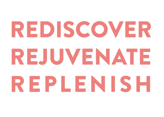 Rediscover Rejuvenate Replenish tagline