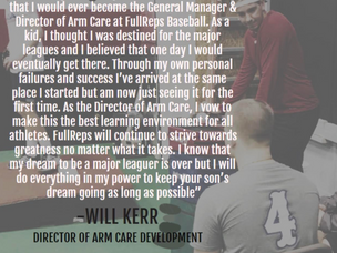 FullReps Director of Arm Care - Will Kerr Shares His Journey: A Great Read For All Youth Athletes!