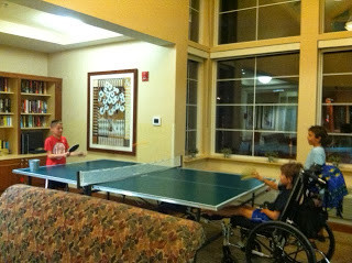 Connor & Martin playing ping pong