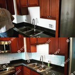 Kitchen Backsplash Before and After